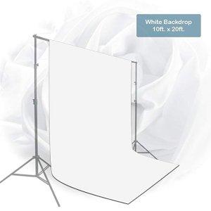 Studio Fabric Backdrop, Background Screen, Pure White Muslin