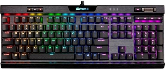 - K70 RGB MK.2 LOW PROFILE RAPIDFIRE Wired Gaming Mechanical CHERRY MX Speed Switch Keyboard with RGB Back Lighting - Black