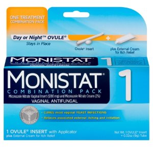 Monistat 1-Day Yeast Infection Treatment, Ovule + External Itch Cream - Walmart.com