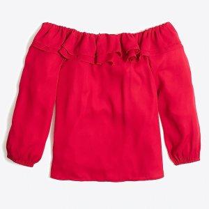 J.CrewRuffle convertible blouse : FactoryWomen Blouses & Tops | Factory