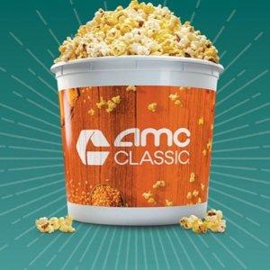只需$4.99 超大杯续满AMC CLASSIC 2020 爆米花年票 美味无限享
