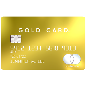 24K-gold-plated front and carbon backMastercard® Gold Card