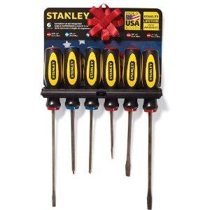 $2.99Stanley 6 pc. Screwdriver Set Assorted in. Steel