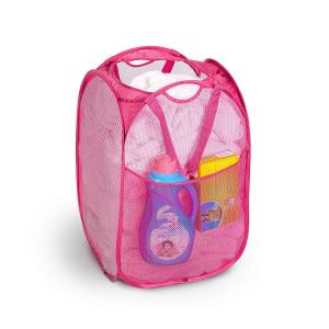 $7.5(原价$28.96)PROMART 可折叠洗衣篮 粉色