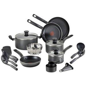 Macy's T-Fal Nonstick Cookware Set 18 Pieces