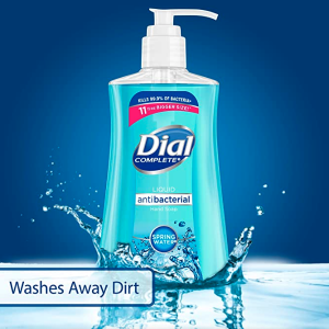 $12.05Dial Antibacterial liquid hand soap, spring water, 11 ounce (Pack of 4), 4 Count