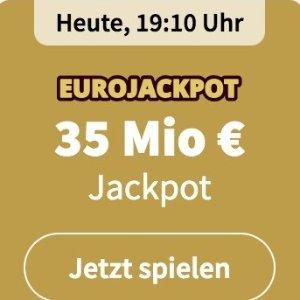 周五开奖 奖金累计3500万欧元EUROJACKPOT 3注只要€2 没有手续费 单车秒变摩托