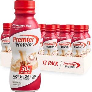 Premier Protein 高蛋白肉桂味营养奶昔 11.5oz 12瓶