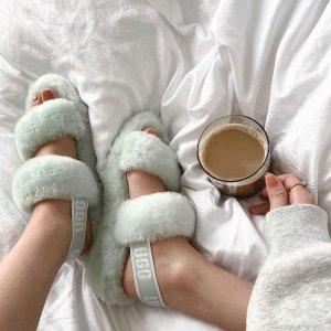 优享7折 收封面系列毛绒拖鞋UGG 节日特惠 男女款 经典雪地靴、豆豆 居家拖鞋都有