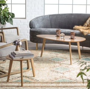 Finley Home Raymore Mid Century Modern Coffee Table Set - Oblong @ Hayneedle