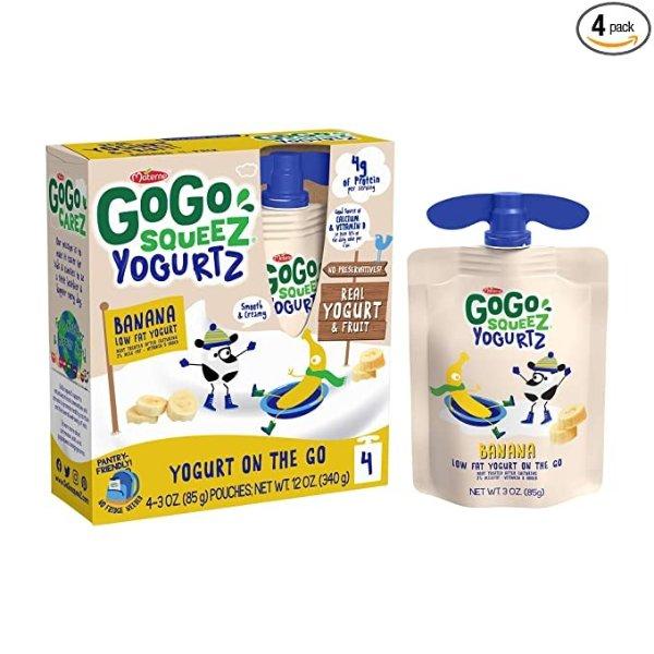 香蕉口味低脂酸奶 4袋装
