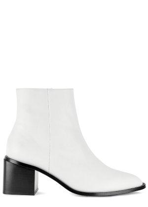 Clergerie Paris Xenia 70 white leather ankle boots - Harvey Nichols