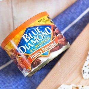 买一送一 1罐仅需$2.30Walgreens 精选 Blue Diamond 美国大杏仁6 oz. 罐装促销