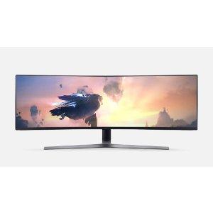 "$749 WFH+娱乐神器Samsung CHG90 49"" 32:9 1080P 144Hz FreeSync HDR 曲面显示器"