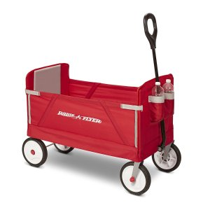 $62.99 Radio Flyer 3-In-1 EZ Fold Wagon Ride On, Red
