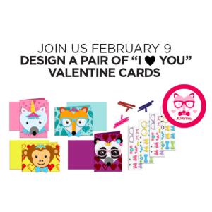 2月9日儿童免费制作情人节礼卡预告:JCPenney 儿童区免费手工活动