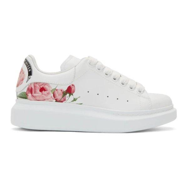 印花小白鞋