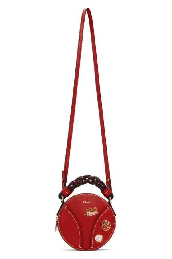 Red Mini Daria 圆饼包