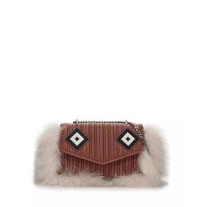 Les Petits JoueursLes Petits Joueurs Ivy Mask Fur-Trim单肩包