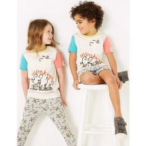 Roald Dahl™ & NHM™ Monkey T-Shirt (2-7 Yrs)