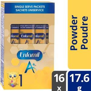 $12.11(原价$16.98)Enfamil A+ 婴儿配方1段 便携独立包装 16包