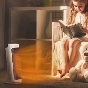8.3折 €49.99(原价€59.99)Taotronics 2000瓦速热超静音陶瓷取暖器 带遥控可定时
