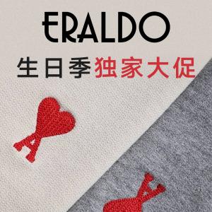 无门槛8折 川久保玲T恤€64最后一天:Eraldo 生日独家大促 收罗意威、AMI、Acne羊毛围巾