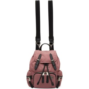 Burberry- Pink Small Puffer Crossbody Backpack