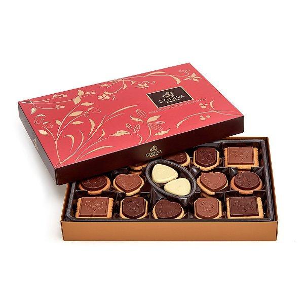 混合口味巧克力饼干礼盒 32块