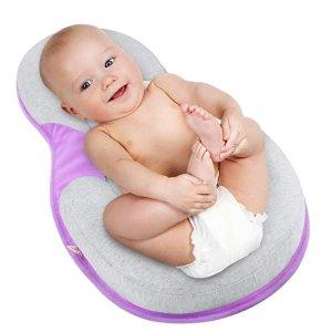 Mestron 便携式婴儿定型床垫,可固定头部,多色可选