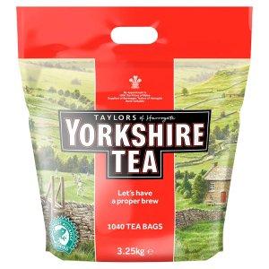 现价£17.86 (原价£23.99)Yorkshire 茶包 (1040包装)