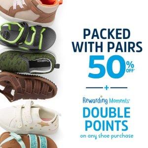 50% Off ++20% off with $40+ Double Pointson Any Shoes Purchase @ OshKosh BGosh