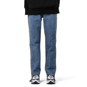 Side-Stripe Cropped 牛仔裤