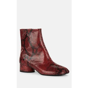 Tabi 蛇皮压纹短靴