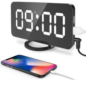 "Turita Digital Alarm Clock  6.5"""