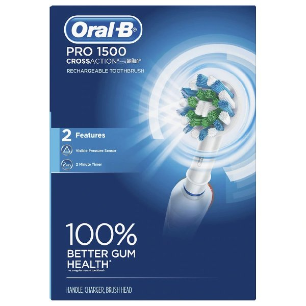Pro 1500 CrossAction 电动牙刷