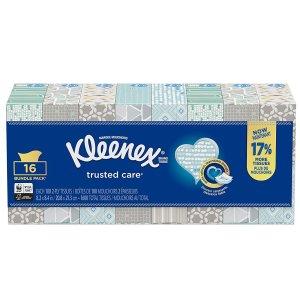 现价$12.32(原价$16.97)Kleenex 面巾纸 16盒装 1600张 日常消耗品囤货