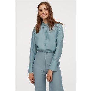 H&M丝绸衬衫