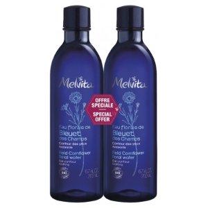 Melvita可卸妆,舒缓肌肤,缓解眼疲劳有机矢车菊花水 200ml*2瓶