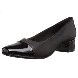 Clarks 女士黑色中跟鞋 6.5码