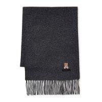 Moschino 深灰色小熊羊毛围巾