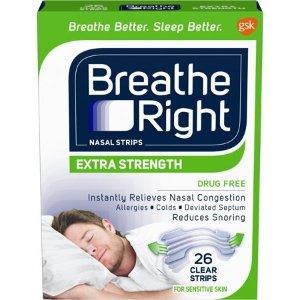Breathe Right 防过敏、透明鼻贴, 26 count