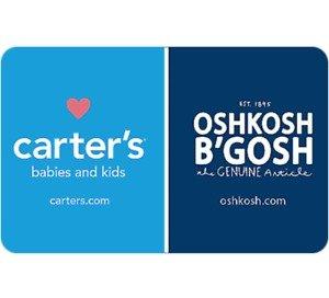 买再送$5礼卡Carter's & Oshkosh 价值$25电子礼卡
