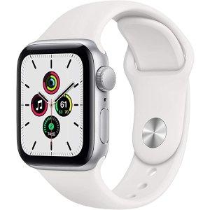 Apple银色表壳+白色运动表带Apple Watch SE (GPS, 40mm)