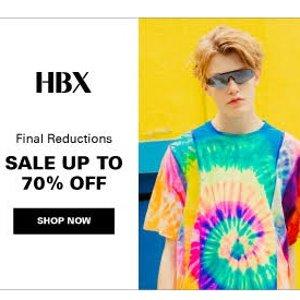 3折起+额外85折!£40收小天使T恤HBX 限时折上折大促 一网打尽你的夏日潮酷穿搭