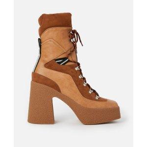 Stella McCartney拼接厚底短靴