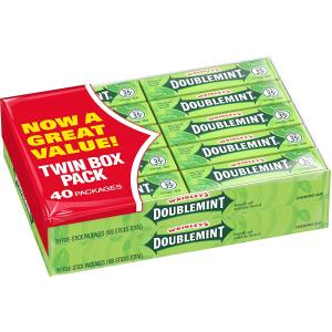 现价$6.64 经典品牌绿箭薄荷口香糖 40包超值装