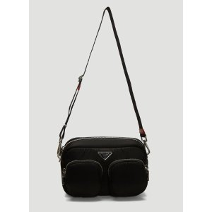 PradaPadded Nylon Shoulder Bag in Black