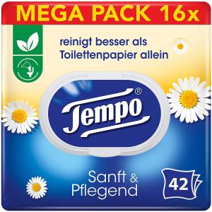 €21就可16包抱回家 原价€27.92Tempo 得宝湿厕纸 洋甘菊香型 干净又健康 日常囤货必备