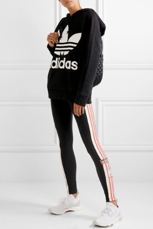 adidas Originals | Striped stretch-cotton jersey leggings | NET-A-PORTER.COM